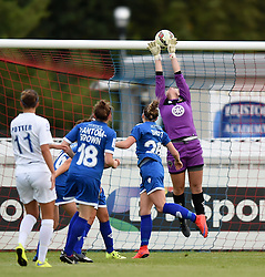 Hannah Reid of Bristol Academy Women deflects the ball over the bar - Mandatory by-line: Paul Knight/JMP - Mobile: 07966 386802 - 29/08/2015 -  FOOTBALL - Stoke Gifford Stadium - Bristol, England -  Bristol Academy Women v Birmingham City Ladies FC - FA WSL Continental Tyres Cup