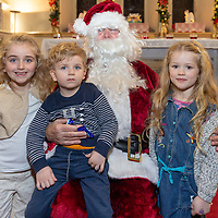 Alice and Gabriel Laverick and Emily O'Brien  from Barefield meeting Santa at the Barefield Christmas Nativity on Sunday evening