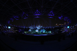 JAKARTA, Aug. 18, 2018  The opening ceremony of the 18th Asian Games is held at Gelora Bung Karno (GBK) Main Stadium in Jakarta, Indonesia, Aug. 18, 2018. (Credit Image: © Zhu Wei/Xinhua via ZUMA Wire)