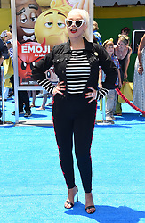 July 23, 2017 - Westwood, California, U.S. - Christina Aguilera arrives for the premiere of the film 'The Emoji Movie' at the Regency Village theater. (Credit Image: © Lisa O'Connor via ZUMA Wire)