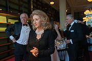 SIR TIM RICE; LADY WOLFSON, The London Library Annual  Life in Literature Award 2013 sponsored by Heywood Hill. The London Library Annual Literary dinner. London Library. St. james's Sq. London. 16 May 2013.