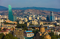cityscape skyline of Tbilisi Georgia capital city eastern Europe