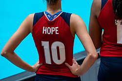 Reagan Hope of USA in action during United States - Netherlands, FIVB U20 Women's World Championship on July 15, 2021 in Rotterdam