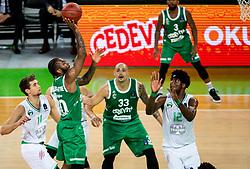 Codi Miller-McIntyre of Cedevita Olimpija during basketball match between KK Cedevita Olimpija and Darussafaka Tekfen Istanbul in 1st Round of Eurocup 2019/20, on October 2, 2019 in Arena Stozice, Ljubljana, Slovenia. Photo by Vid Ponikvar / Sportida