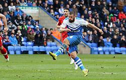 Peterborough United's Michael Bostwick scores the opening goal - Photo mandatory by-line: Joe Dent/JMP - Mobile: 07966 386802 - 21/03/2015 - SPORT - Football - Peterborough - ABAX Stadium - Peterborough United v Chesterfield - Sky Bet League One