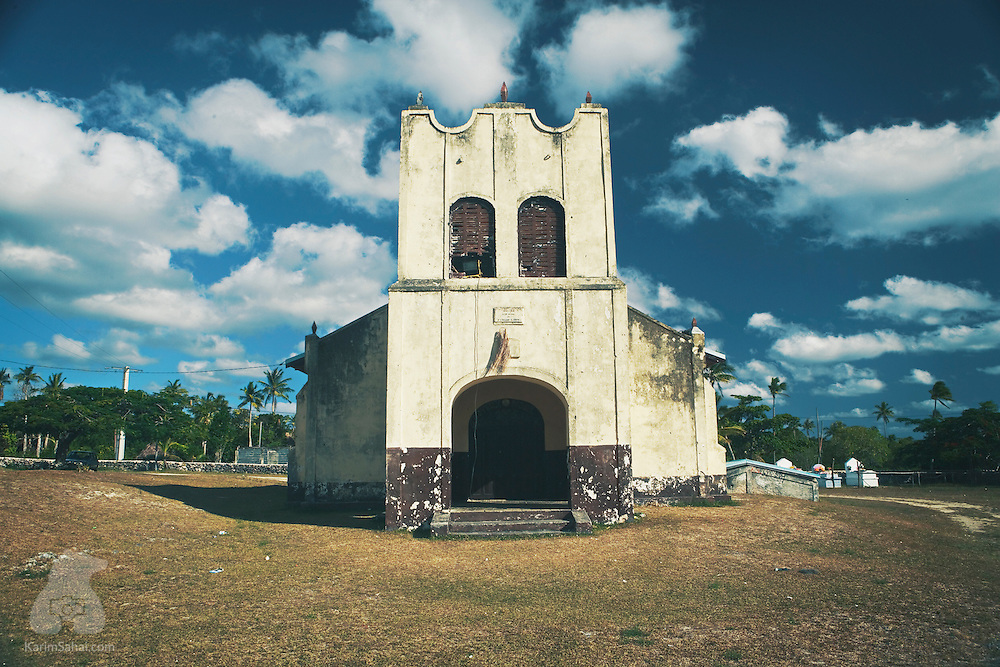 An abandoned church near the village of Jokin, on Lifou, off the larger island of New Caledonia. Catholic missions were set up in Lifou in the 19th century. Catholicism is still the main religion in the caledonian archipelago today.