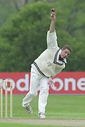 Shenley, Middlsex. ENGLAND, Sri Lanka Tour match.<br /> Photo Peter Spurrier<br /> 11/05/2002<br /> Sport - Cricket - Middlesex vs Sri Lanka -Shenley:<br /> Middlesex's Ben Hutton bowling  (ball that took Chandana's wicket.                             [Mandatory Credit:Peter SPURRIER/Intersport Images]