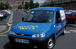 Electric powered council vehicle; Newcastle City Council; NE England