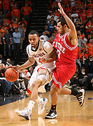 Virginia's calvin Baker-_Virginia held North Carolina State scoreless for more than 7 minutes on the way to a 59-47 victory Wednesday night at the John Paul Jones Arena in Charlottesville, VA. Virginia (14-6, 5-2 Atlantic Coast Conference) regained a share of first place in the conference. (Photo/Andrew Shurtleff)....