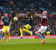 Sadio Mane of Southampton competes withal Hutton of Villa - Football - Barclays Premier League - Aston Villa vs Southampton - Villa Park Birmingham  - Season 2014/2015 - 24th November 2015 - Photo Malcolm Couzens /Sportimage