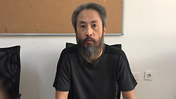 Japanese journalist Jumpei Yasuda released after three years of captivity in Syria, and is now in Hatay, Turkey, on October 24, 2018. Photo by Depo Photos/ABACAPRESS.COM