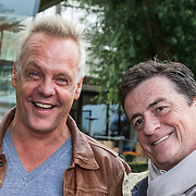 NLD/Amsterdam/20140820 - Doop Johnny Kraaijkamp Sr. boot, Rijk Jr. de Gooyer, Jonny Jr.