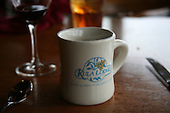 A coffee cup at Kula Lodge, one of Hawaii's best restaurants.