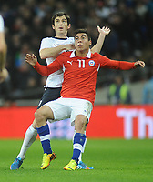 Football - 2013 International Friendly - England vs. Chile<br /> Eduardo Vargas - Chile <br />  at Wembley.<br /> <br /> COLORSPORT/ANDREW COWIE