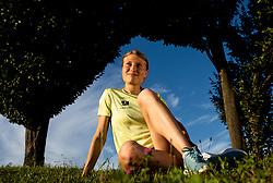 Slovenian steeplechase runner Marusa Mismas Zrimsek posing at photo shooting, on July 8, 2020 in ZAK Stadium, Ljubljana, Slovenia. Photo by Vid Ponikvar / Sportida