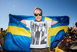July 3, 2018 - Helsingborg/Landskrona, SVERIGE - 180703  Svenska supportrar pÅ' GrÅ¡ningen under dag 2 av SM-veckan den 3 juli 2018 i Helsingborg/Landskrona  (Credit Image: © Mathilda Ahlberg/Bildbyran via ZUMA Press)