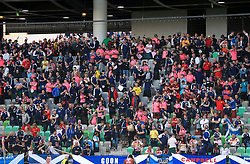 Scotland fans in the stands show their support during the 2018 FIFA World Cup Qualifying Group F match at Stadion Stozice, Ljubljana.