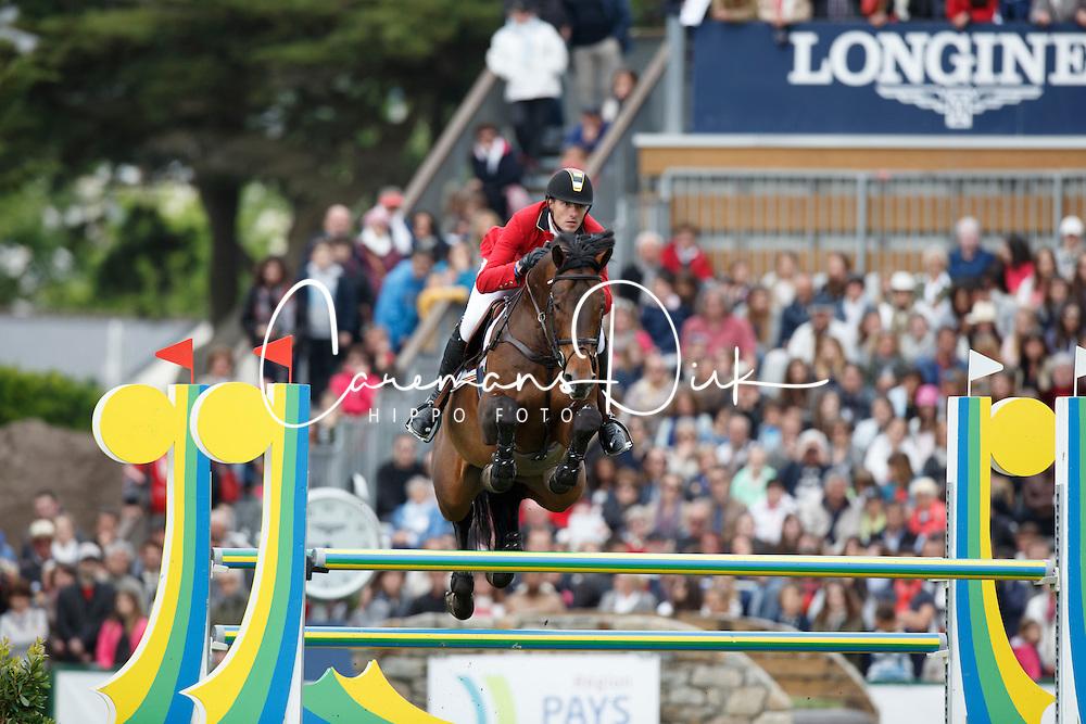 Wathelet Gregory, (BEL), Conrad de Hus<br /> Furusiyya FEI Nations Cup presented by Longines<br /> Longines Jumping International de La Baule 2015<br /> © Hippo Foto - Dirk Caremans<br /> 15/05/15