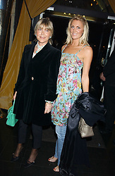 ROSIE, MARCHIONESS OF NORTHAMPTON and LADY EMILY COMPTON at a party to celebrate the publication of Tatler's Little Black Book 2005 held at the Baglioni Hotel, 60 Hyde Park Gate, London SW7 on 9th November 2005.<br />