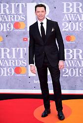 Hugh Jackman attending the Brit Awards 2019 at the O2 Arena, London.