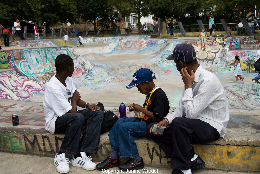 Youth at West London Skate Park