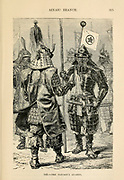 The Taicoon's Guards engraving on wood From The human race by Figuier, Louis, (1819-1894) Publication in 1872 Publisher: New York, Appleton