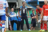 David Wagner, the Huddersfield Town manager shouting from the touchline. EFL Skybet  championship match, Reading  v Huddersfield Town at The Madejski Stadium in Reading, Berkshire on Saturday 24th September 2016.<br /> pic by John Patrick Fletcher, Andrew Orchard sports photography.