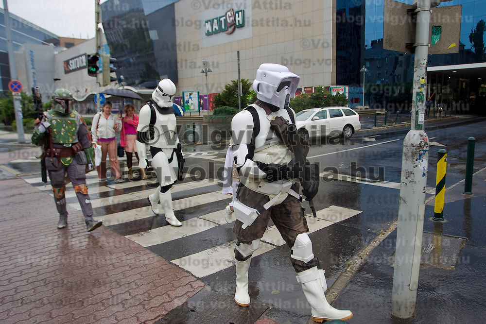 Hungarian Star Wars fans celebrate the 30th anniversary of The Empire Strikes Back dressed as movie characters in Duna Plaza, Budapest, Hungary. Saturday, 15. May 2010. ATTILA VOLGYI