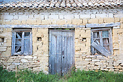 Shabby house in ancient village of Peroulades in Northern Corfu, , Greece