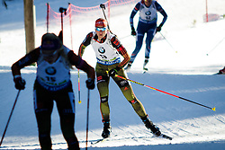 Vanessa Hinz (GER) competes during Women 10 km Pursuit at day 3 of IBU Biathlon World Cup 2015/16 Pokljuka, on December 19, 2015 in Rudno polje, Pokljuka, Slovenia. Photo by Ziga Zupan / Sportida