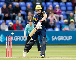 Glamorgan's Aneurin Donald<br /> <br /> Photographer Simon King/Replay Images<br /> <br /> Vitality Blast T20 - Round 14 - Glamorgan v Surrey - Friday 17th August 2018 - Sophia Gardens - Cardiff<br /> <br /> World Copyright © Replay Images . All rights reserved. info@replayimages.co.uk - http://replayimages.co.uk