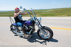 Melissa Shoemaker on the Cycle Source Ride during the 78th annual Sturgis Motorcycle Rally. Sturgis, SD. USA. Wednesday August 8, 2018. Photography ©2018 Michael Lichter.