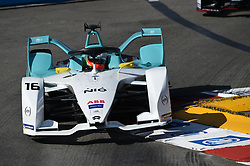 May 11, 2019 - Monaco, Monaco - 16 English driver Oliver Turvey of Nio Formula E Team drive her single-seater during the 3rd edition of Monaco E-Prix, in port neighborhood in Monaco, France  (Credit Image: © Andrea Diodato/NurPhoto via ZUMA Press)