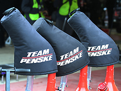 February 23, 2019 - Hampton, GA, U.S. - HAMPTON, GA - FEBRUARY 23: Gas cans for Penske Racing in the garage during practice for the Monster Energy Cup Series QuikTrip Folds of Honor 500 on February 23, 2019, at Atlanta Motor Speedway in Hampton, GA.(Photo by Jeffrey Vest/Icon Sportswire) (Credit Image: © Jeffrey Vest/Icon SMI via ZUMA Press)