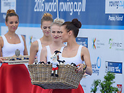 Poznan,  POLAND,  Sunday, 19/06/2016,Presentation Party Medels and Fluffy Goats, , FISA World Cup III, Malta Lake.  FISA World Cup III, Malta Lake.[Mandatory Credit; Peter SPURRIER/Intersport-images]