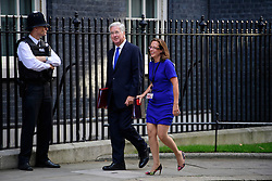 © Licensed to London News Pictures. 13/09/2016. London, UK.  Defence secretary MICHAEL FALLON and Leader of the House of Lords BARONESS EVANS OF BOWES, arrive at 10 Downing Street in London for cabinet meeting on September 13, 2016. Photo credit: Ben Cawthra/LNP