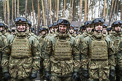 March 26, 2019 - Kiev, Ukraine - Servicemen during The celebrations on the occasion of the 5th anniversary of the National Guard of Ukraine, Kyiv, Ukraine. 26-03-2019  (Credit Image: © Maxym Marusenko/NurPhoto via ZUMA Press)