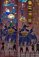 art  in a temple in Luang Prabang, Laos, a UNESCO World Heritage Center.