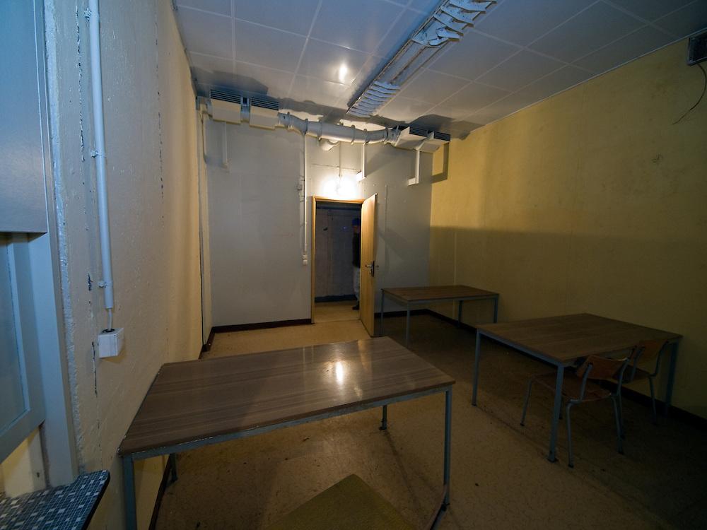 Former dining room inside the Honecker Bunker in Prenden.