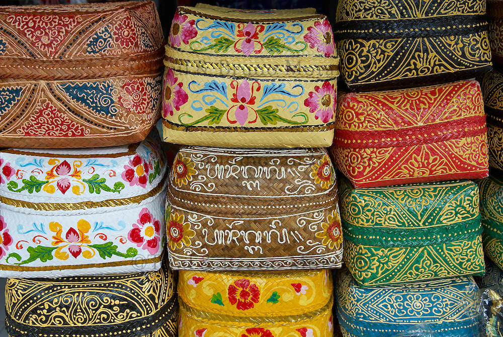 Indonesie, Bali, Artisanat à Ubud, Boite à offrande // Indonesia, Bali, Handicraft at Ubud, Offering box.