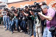 Roland Garros. Paris, France. May 31st 2012.Photographers in front of Diane Kruger.