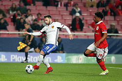December 5, 2017 - Lisbon, Portugal - Basel's midfielder Renato Steffen from Suisse (L) vies with Benfica's defender Eliseu during the UEFA Champions League Group A football match between SL Benfica and FC Basel at the Luz stadium in Lisbon, Portugal on December 5, 2017. Photo: Pedro Fiuza (Credit Image: © Pedro Fiuza via ZUMA Wire)