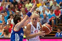Celine Dumerc / Milica Dabovic - 28.06.2015 - France / Serbie - Finale Championnat d'Europe feminin de Basket ball -Budapest<br /> Photo : Attila Volgyi / Icon Sport