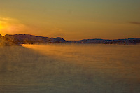 Norway Winter Dawn on the M/S Kong Harald Approaching Kirkenes. Image taken with a Nikon D2xs and 28-70 mm f/2.8 lens (ISO 100, 70 mm, f/2.8, 1/2500 sec).
