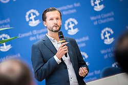 18 September 2017, Geneva, Switzerland: WCC Communications' Ivars Kupcis speaks at the Ecumenical Centre in Geneva, where the WCC hosts a meeting of member churches' Ecumenical Officers.