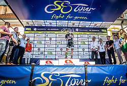 Stage winner Sam Bennett (ITA) of Bora - Hansgrohe celebrates at trophy ceremony after the last Stage 4 of 24th Tour of Slovenia 2017 / Tour de Slovenie from Rogaska Slatina to Novo mesto (158,2 km) cycling race on June 18, 2017 in Slovenia. Photo by Vid Ponikvar / Sportida