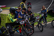 2021 UCI BMXSX World Cup<br /> Round 3 and 4 at Bogota (Colombia)<br /> Friday Practice<br /> ^we#212 PETERSONE, Vineta (LAT, WE) Thrill, Answer, Tangent, Maxxis, Zulu, Max Rims, Cema, Custom Racing<br /> ^we#216 VAUGHN, Daleny (USA, WE) DK Bicycles<br /> ^we#215 RIDENOUR, Payton (USA, WE) Mongoose, E6 Wheels