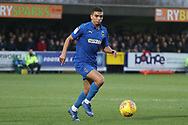 AFC Wimbledon defender Tennai Watson (2) dribbling during the EFL Sky Bet League 1 match between AFC Wimbledon and Barnsley at the Cherry Red Records Stadium, Kingston, England on 19 January 2019.