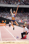 Morgan Lake in the Long Jump during the Sainsbury's Anniversary Games at the Queen Elizabeth II Olympic Park, London, United Kingdom on 25 July 2015. Photo by Phil Duncan.