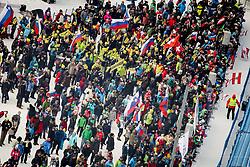 Fans during 2nd run of Men's Slalom race of FIS Alpine Ski World Cup 57th Vitranc Cup 2018, on March 4, 2018 in Podkoren, Kranjska Gora, Slovenia. Photo by Ziga Zupan / Sportida